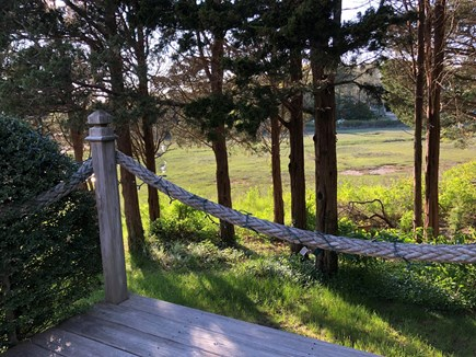 Eastham-Boat Meadow Beach area Cape Cod vacation rental - Back yard Marsh view