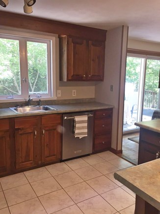 East Dennis Cape Cod vacation rental - Kitchen with new KitchenAid dishwasher and refrigerator