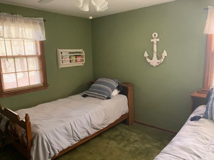 East Dennis Cape Cod vacation rental - 3rd Bedroom now w/bunk beds and a twin