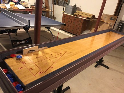East Dennis Cape Cod vacation rental - Ping pong and shuffle board in the basement