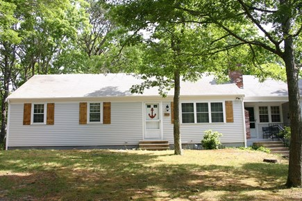 East Dennis Cape Cod vacation rental - Front of the house, long driveway is to the right