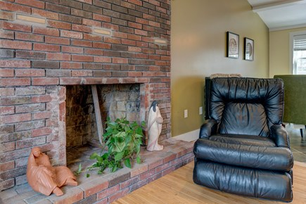 East Falmouth Cape Cod vacation rental - Warm fireplace