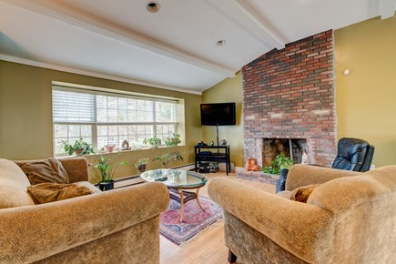 East Falmouth Cape Cod vacation rental - Everyone has a spot by the fire
