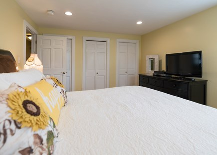East Falmouth Cape Cod vacation rental - King bed with personal tv