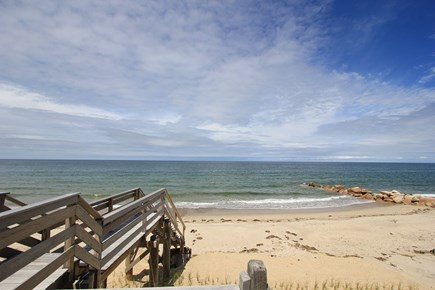 East Sandwich Cape Cod vacation rental - Staircase to Beach