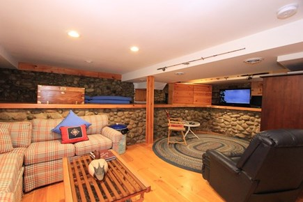 East Sandwich Cape Cod vacation rental - Lower level Living Room