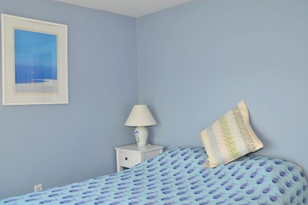 North Chatham Cape Cod vacation rental - Blue-themed second bedroom