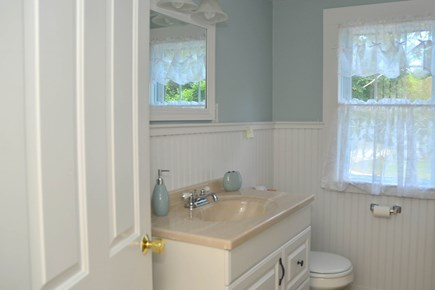North Chatham Cape Cod vacation rental - Well lit bathroom