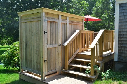 North Chatham Cape Cod vacation rental - Rinse off in the outdoor shower