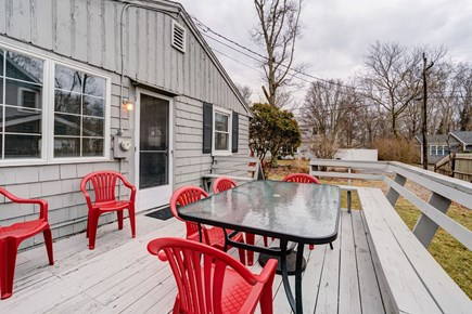 East Falmouth Cape Cod vacation rental - Room for everyone on the deck