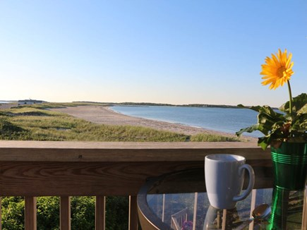 Hyannis Cape Cod vacation rental - Sunrises on the master bedroom deck that overlooks Kalmus Beach