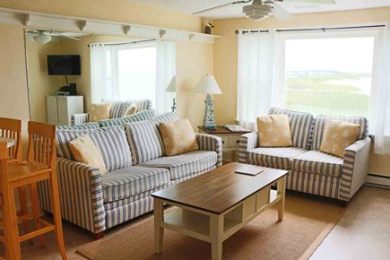Hyannis Cape Cod vacation rental - The comfortable living room includes a queen-size sleeper sofa