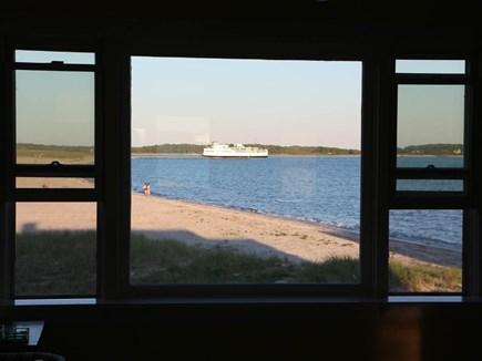 Hyannis Cape Cod vacation rental - providing endless entertainment as ferries and wind surfers go by