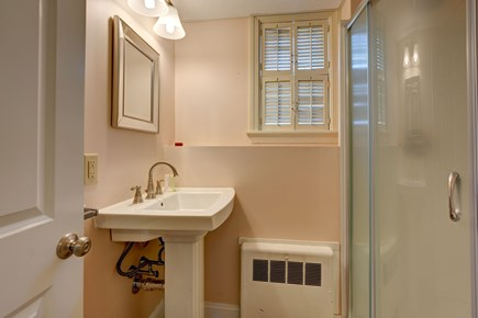 Falmouth Cape Cod vacation rental - Bathroom for the twin beds