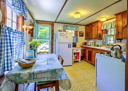East Sandwich Cape Cod vacation rental - Dining table in the Kitchen.