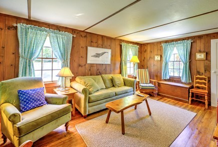 East Sandwich Cape Cod vacation rental - Comfortably furnished Living Room with TV.