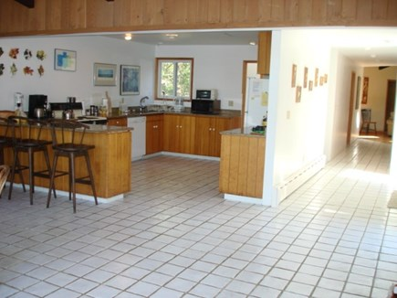 Wellfleet Cape Cod vacation rental - Large kitchen with eating counter, room for all