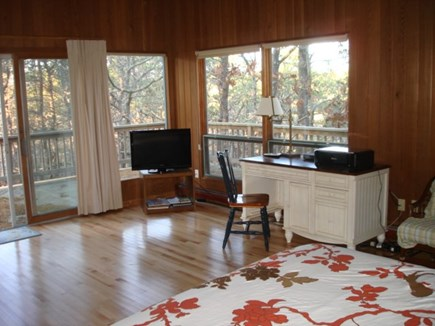 Wellfleet Cape Cod vacation rental - Main bedroom with a private deck and bath