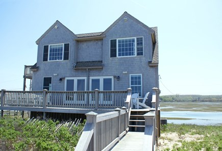 East Sandwich Cape Cod vacation rental - View of  house from the ocean side.
