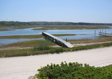 East Sandwich Cape Cod vacation rental - Private dock on the road side extends into the tidal salt marsh.
