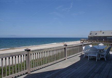 East Sandwich Cape Cod vacation rental - Expansive lower deck overlooks Cape Cod Bay.