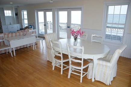East Sandwich Cape Cod vacation rental - Dining table overlooks Cape Cod Bay.
