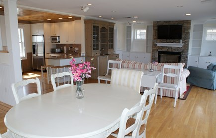 East Sandwich Cape Cod vacation rental - Open floor plan through Kitchen/Dining/Living area.