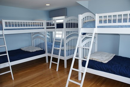 East Sandwich Cape Cod vacation rental - 2nd Bedroom on 2nd floor with 3 sets of bunks ( 6 Twins).