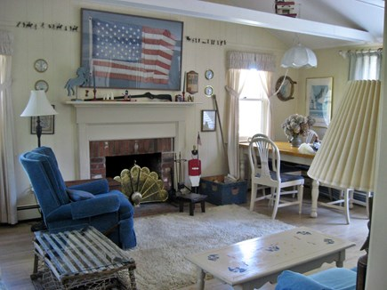 East Orleans  Cape Cod vacation rental - Living room with dining area