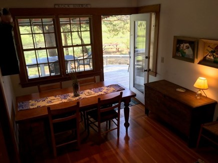 Eastham Cape Cod vacation rental - Dining room with door to deck & views