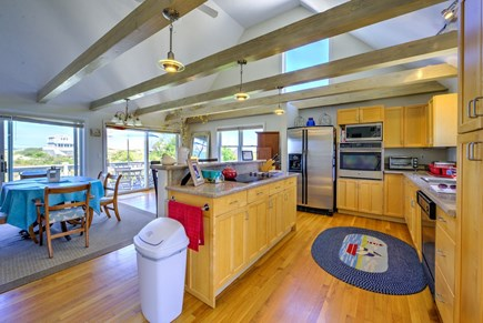 East Sandwich Cape Cod vacation rental - Open Kitchen/Dining/Living on middle level.