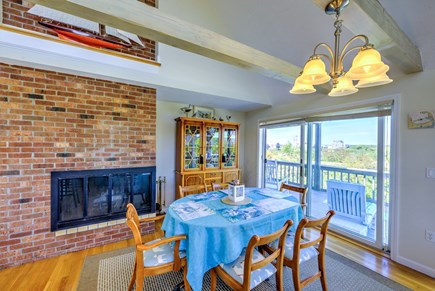 East Sandwich Cape Cod vacation rental - Gas fireplace in the Dining area.