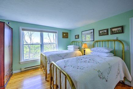 East Sandwich Cape Cod vacation rental - Bedroom with Twins on middle level.