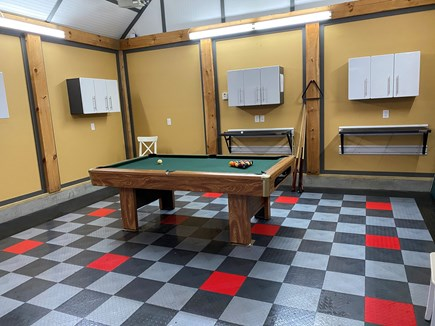 Harwich Cape Cod vacation rental - Pool table and ping-pong table in garage