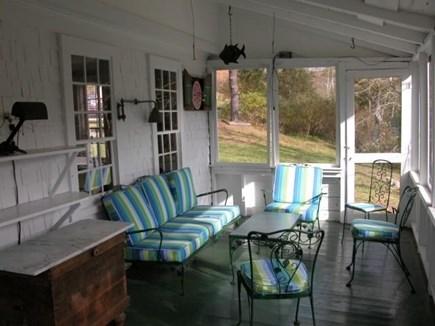 Truro Cape Cod vacation rental - Screen Porch Overlooks Yard