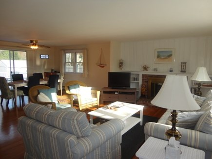 West Yarmouth Cape Cod vacation rental - Living room open to dining