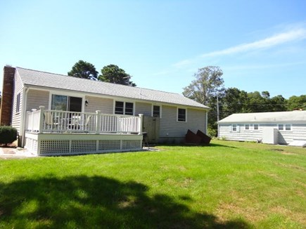 West Yarmouth Cape Cod vacation rental - Large back yard with deck & enclosed outdoor shower
