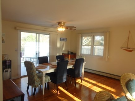West Yarmouth Cape Cod vacation rental - Dining area with sliders to the deck
