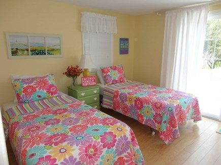 West Yarmouth Cape Cod vacation rental - Bedroom can be 2 twins or a king - sliders to private deck