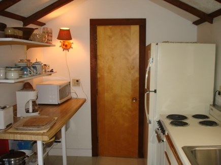 Wellfleet Cape Cod vacation rental - Galley Kitchen leads to bathroom