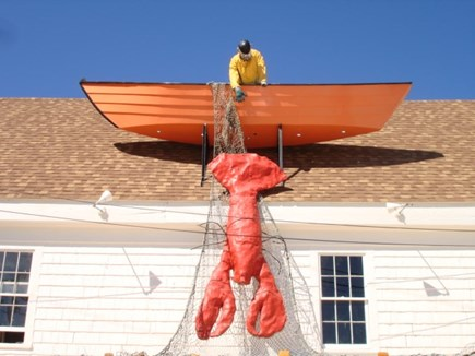 Wellfleet Cape Cod vacation rental - Passing a restaurant on the way to the Harbor