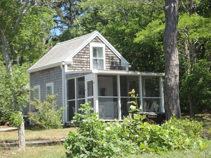 Wellfleet Cape Cod vacation rental - Screened in porch for dining-reading-relaxing Overlooking water