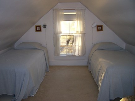 Wellfleet Cape Cod vacation rental - Upstairs bedroom with window facing water