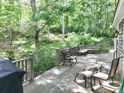 Orleans Cape Cod vacation rental - Wraparound deck (back of house)