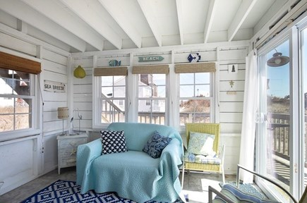 Manomet, White Horse Beach Manomet vacation rental - Sunny room off deck to read, play cards, relax.