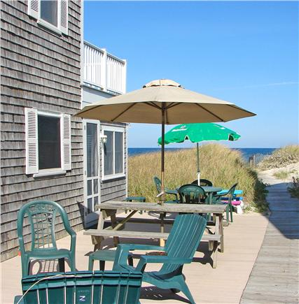 East Sandwich Cape Cod vacation rental - A perfect patio outside the kitchen