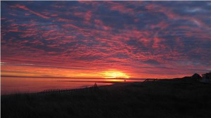 East Sandwich Cape Cod vacation rental - Sunrise on our private beach