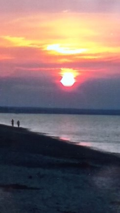 East Sandwich Cape Cod vacation rental - Sunset on our beach .
