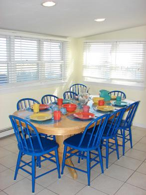 East Sandwich Cape Cod vacation rental - Beautiful ocean views in this dining area set for eight