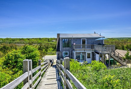 East Sandwich Cape Cod vacation rental - View of Condo looking back from beach side